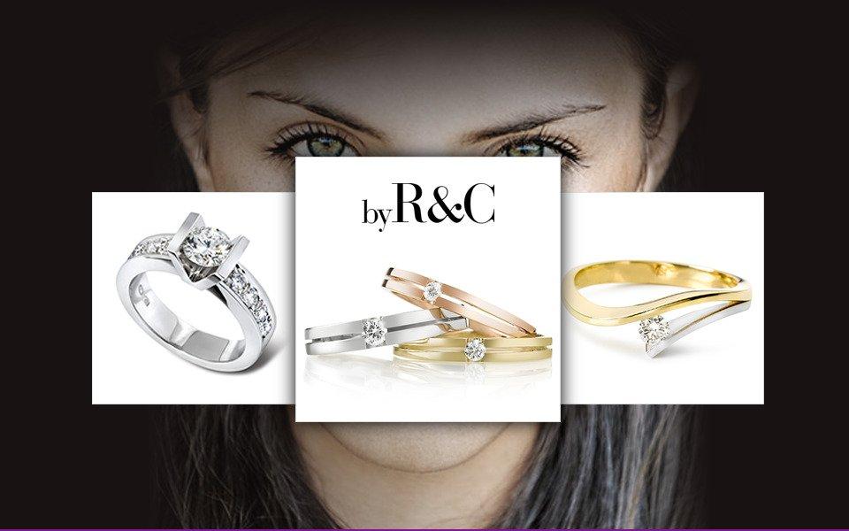 RenC gouden sieraden met diamant slider