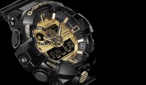 Casio heren horloge G shock GA710 zwart goud Juwelier De Haas