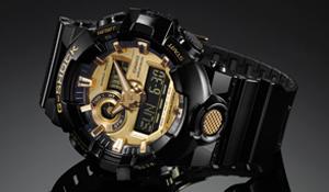 Casio heren horloge G-shock GA710 zwart goud